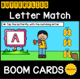 Butterfly Letter Match BOOM CARDS™ Distance Learning