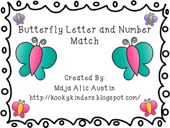 Butterfly Letter and Number Match