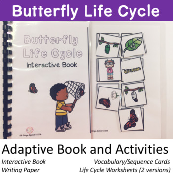 Butterfly Life Cycle adapted book and activities
