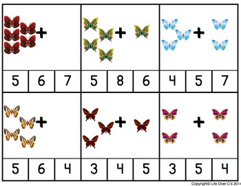 Butterfly Life-Cycle Addition Clip Cards