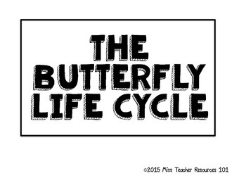 Butterfly Life Cycle - Anchor Chart {freebie}