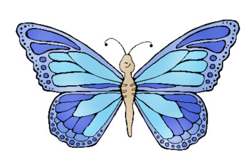 Butterfly Life Cycle Clip Art - Whimsy Workshop Teaching
