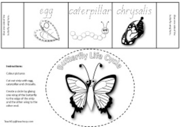 Butterfly Life Cycle Craft FREE Resource