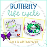 Butterfly Life Cycle Craft Template and Writing Paper