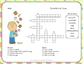 Butterfly Life Cycle Vocabulary - Crossword Puzzle
