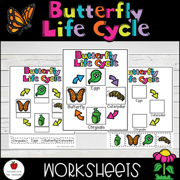 Butterfly Life Cycle-Cut & Paste