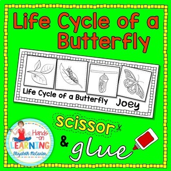 Butterfly Life Cycle Cut and Glue