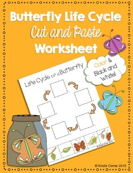 Butterfly Life Cycle Cut and Paste Worksheet