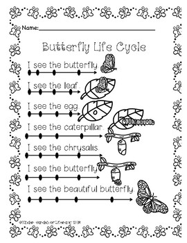 Butterfly Life Cycle Dot Reading