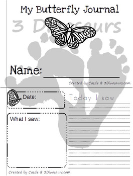 Butterfly Life Cycle Easy Reader Books & Journal