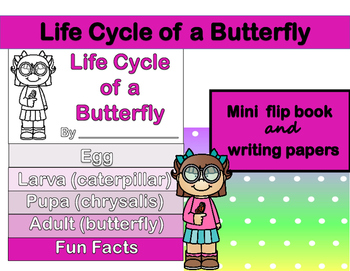 Butterfly Life Cycle Flip Book and Writing Papers