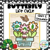 Butterfly Life Cycle Flower Pot Sequencing Activity
