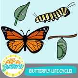 Butterfly Life Cycle [Full-On Sunshine Clip Art]