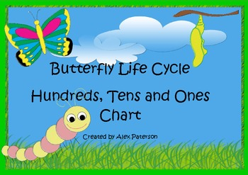 Butterfly Life Cycle - Hundreds, Tens and Ones Chart
