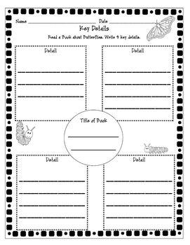 Butterfly Life Cycle Literacy and Math Activities