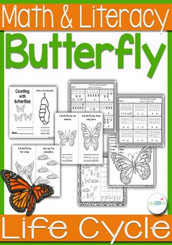 Butterfly Life-Cycle Math and Literacy Printables