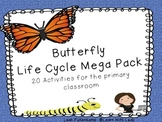 Butterfly Life Cycle Mega Pack!  20 Different Activities