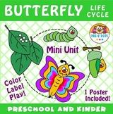 Butterfly Life Cycle Mini Unit Preschool and Kindergarten