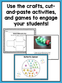 Butterfly Life Cycle Unit for Preschool, Kindergarten, or First Grade