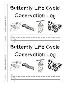 Butterfly Life Cycle Observation Log Book