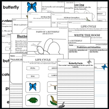 Butterfly Life Cycle Packet- Science - Raising Butterflies in the Classroom