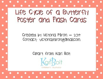 Butterfly Life Cycle Poster and Flash Cards