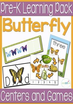 Butterfly Life Cycle Pre-K/Kindergarten Math & Literacy Pack