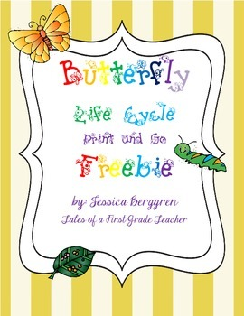 Butterfly Life Cycle Print and Go Freebie