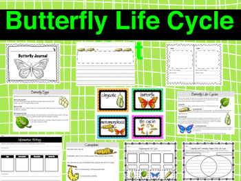 Butterfly Life Cycle RLA Unit with Writing and Reading Passages