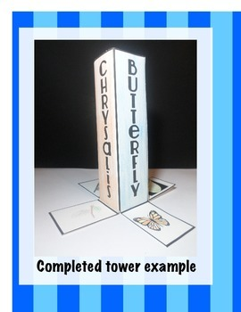 Butterfly Life Cycle Science Interactive Tower Foldable