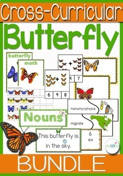 Butterfly Life Cycle Science, Math and Literacy K-1BUNDLE