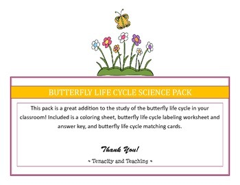 Butterfly Life Cycle Science Pack