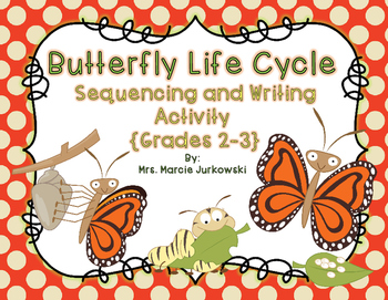 Butterfly Life Cycle Sequencing and Writing Activity