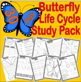 Butterfly Life Cycle Study Packet * Writing Vocabulary Fun Sequencing Science +