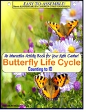 Butterfly Life Cycle Theme Count To 10 Interactive Math Center {Kindergarten}
