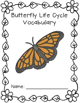 Vocabulary Activities | Vocabulary Graphic Organizers | Butterfly Life Cycle