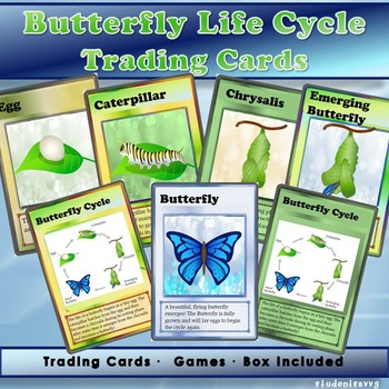 Butterfly Life Cycle - Trading Cards!