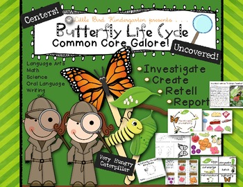 Butterfly Life Cycle Uncovered! Literacy & Math Activities & Centers
