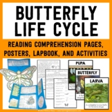 Butterfly Life Cycle Lapbook, Reading Passages, Activities