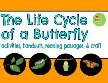 Butterfly Life Cycle Unit ~ Reading Comprehension Passage ~ Craft ~ Activities