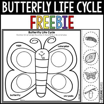 Butterfly Life Cycle Worksheet Freebie By Emilyjanecreates Tpt