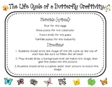 Butterfly Life Cycle Worksheet and Craft