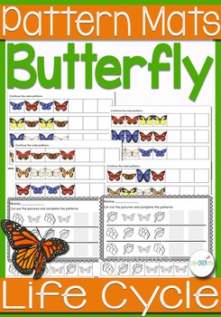 Butterfly Life-Cycle Pattern Mats
