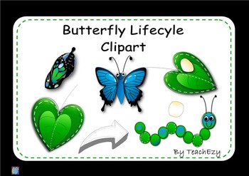 Butterfly Lifecycle Clip Art