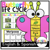 Butterfly Life Cycle Craft in English and Spanish