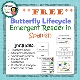 Butterfly Lifecycle Emergent Reader in ***SPANISH*** FREEBIE