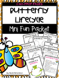Butterfly Lifecycle Mini Fun Packet ~ NO PREP
