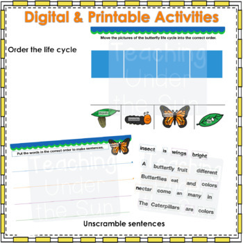 Butterfly Life Cycle Book Digital Nonfiction Google Activity Life Science