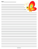 Butterfly Lined Paper