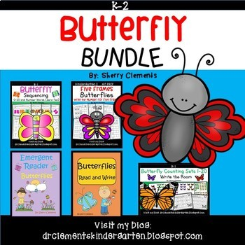 Butterfly Literacy and Math BUNDLE